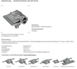 MultiPlusKlemme Edelstahl d 8-10mm