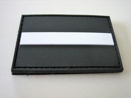 Klettpatch thin white line ca. 6 x 4 cm