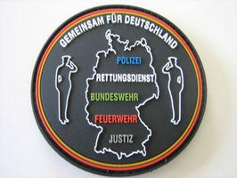 Klettpatch Gemeinsam für Deutschland rund ca. 7 x 7 cm