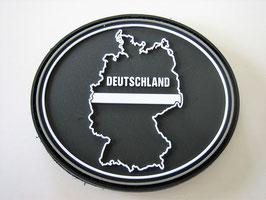 Klettpatch Deutschland thin white line oval ca. 7 x 6 cm