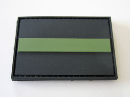 Klettpatch thin green line ca. 6 x 4 cm