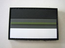 Klettpatch thin green line Deutschland black night camo ca. 6 x 4 cm