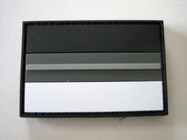 Klettpatch thin grey line Deutschland black night camo ca. 6 x 4 cm