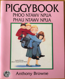 Piggybook (White/Green Hmong and English)