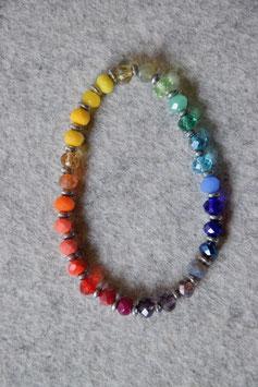 Regenbogenarmband Hematit silber Nr.3