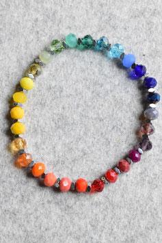 Regenbogenarmband Hematit silber Nr.1
