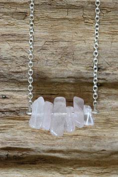 Silberkette Rosenquarz