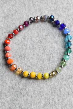Regenbogenarmband Hematit silber Nr.2