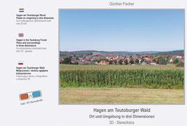 Bildband mit 3 D - Stereofotos: Hagen am Teutoburger Wald, Ort und Umgebung in drei Dimensionen inkl. Betrachtungsbrille