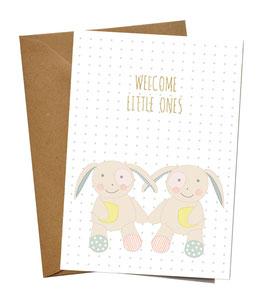 """KLAPPKARTE """"WELCOME LITTLE ONES"""""""