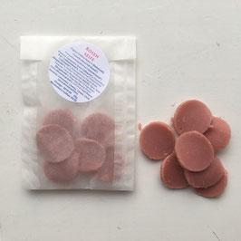 Ersatzpaket für Weckgläser mit kleinen Seifchen mit Rosenduft  in Herz oder Kreisform