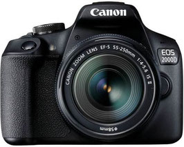 Canon EOS 2000D EF-S 18-55 IS Double Lens Kit