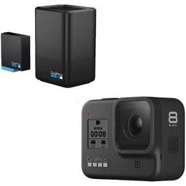 Gopro Hero 8 + Dualcharger + Akku Winterkit (12 MP, Schwarz) Schwarz - Gopro Actioncamsame
