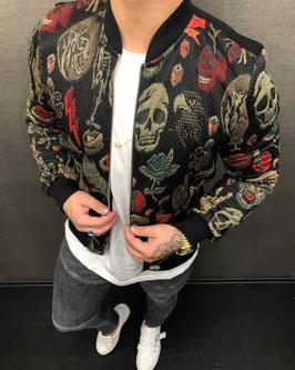 Streetwear Style Jacke Totenkopf
