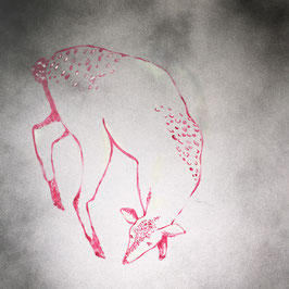 Deer n. 7 | tecnica mista su tela | 50x50