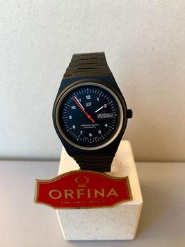 Orfina Porsche Design schwarz 3 Zeiger Automatik Uhr