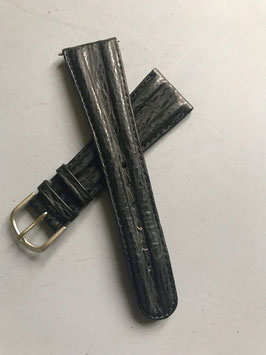 Lederarmband schwarz 22mm