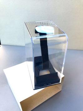 Transparente Uhrenbox