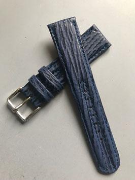 Lederarmband blau 20mm