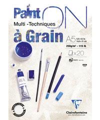 Clairefontaine PAINT ON  Multi-Techniques á Grain 250g/m²