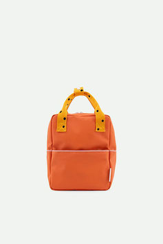 STICKY LEMON small backpack freckles | carrot orange + sunny yellow + candy pink