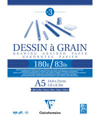 Clairefontaine Dessin á Grain N°3, 180g/m²