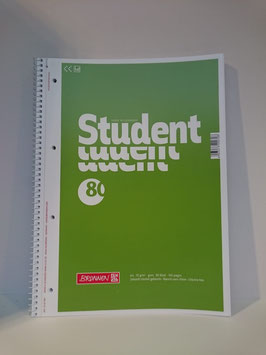 Brunnen Student Collegeblock, A4, Blanko