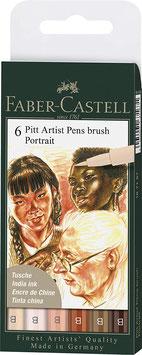 Pitt Artist Pens brush Portrait