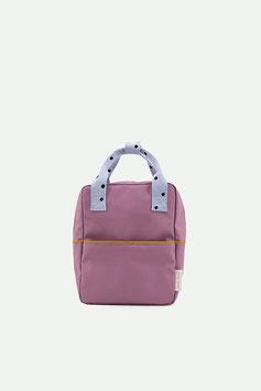 STICKY LEMON small backpack freckles | pirate purple + sky blue + caramel fudge
