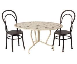 MAILEG DINING TABLE SET, MINI - ANTHRACITE