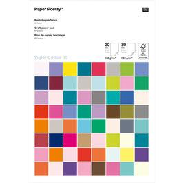 Paper Poetry Bastelblock Super Colour A4 60 Blatt