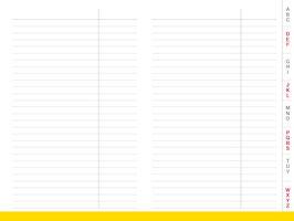 X17 Einlage (A6), Adressregister