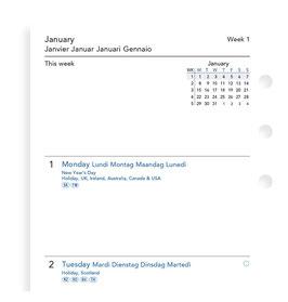 Einlage 1 Woche / 2 Seiten multilingual Personal 2021