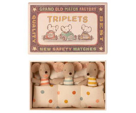 TRIPLETS, BABY MICE IN MATCHBOX