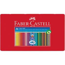 Faber-Castell Buntstift Colour Grip, 36er Metalletui