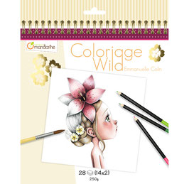 Avenue Mandarine Colouring book Wild - Emmanuelle Colin