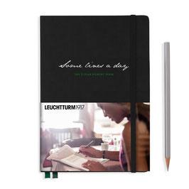 Some lines a day, 5-Jahres-Buch Medium (A5), Schwarz