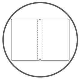 X17 Notizbucheinlage A4+ Doppelseite - Aktentasche