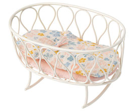 CRADLE WITH SLEEPING BAG, MICRO - OFF-WHITE