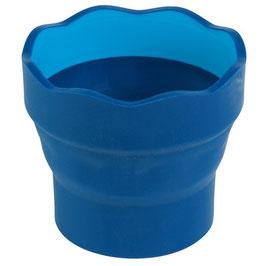 Faber-Castell Wasserbecher Clic&Go blau, faltbar