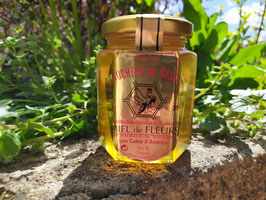 Miel de fleurs 250 g. verre