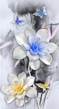 Vlinders en bloemen - H18118