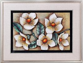 Schilderij van bloemen - H18125