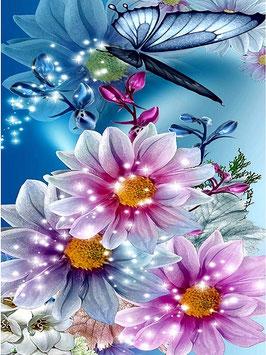 Vlinders en bloemen - H18105