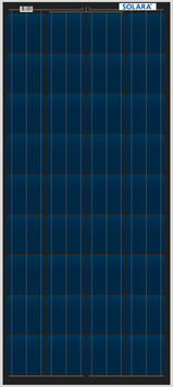 SOLARA Solar panel S445M36 (12V/110Wp/440Wh/d)
