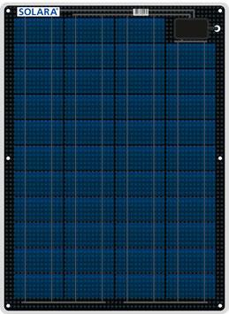 SOLARA Solar panel S220P43 (12V/55Wp/220Wh/d)