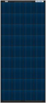 SOLARA Solar panel S640P36 (12V/160Wp/640Wh/d)
