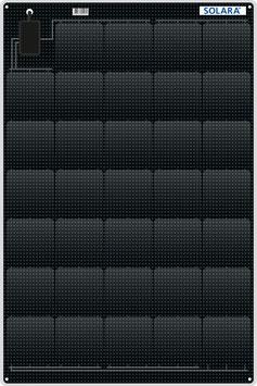 SOLARA Solar panel S440M34 (12V/110Wp/440Wh/d)