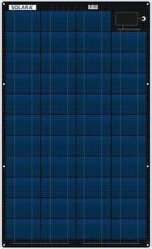 SOLARA Solar panel S110P42 (12V/27Wp/110Wh/d)