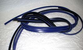 4 Lederriemchen  indigoblau / schwarz